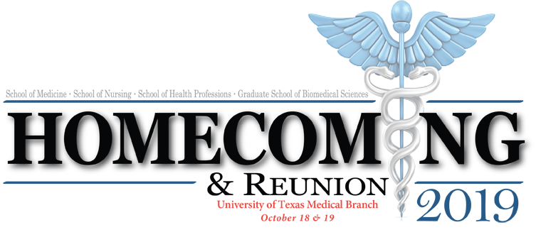 UTMB homecoming 2019 logo